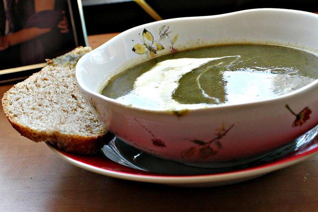 swiss chard, potato and sorrel soup