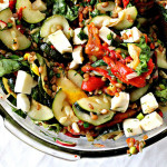 Wheat Berry Salad with Zucchini and Mozzarella…Happy 4th of July!