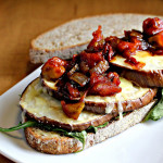 Grilled Eggplant Subs with Fontina and Tomato Jam