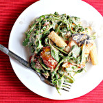 Pasta with Ricotta, Roasted Tomatoes, Figs, and Arugula