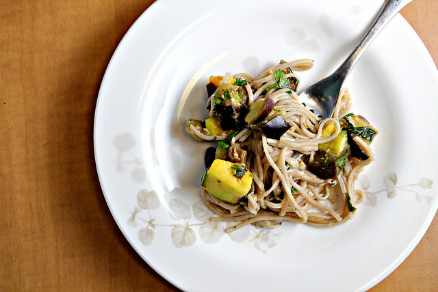 Soba Noodles with Eggplant and Mango | Joanne Eats Well With Others