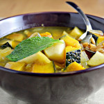 Roasted Winter Squash, Apple and Spelt Berry Soup