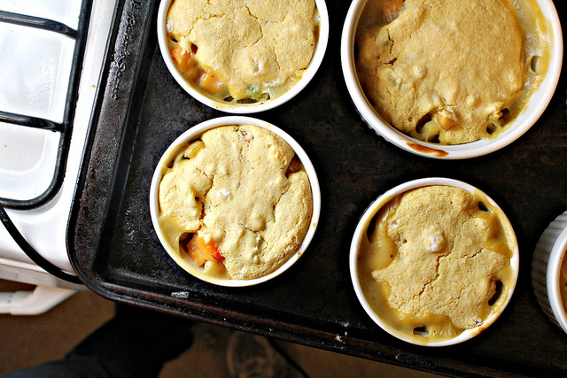 Chickpea Potpie with Cornbread Crust | Joanne Eats Well With Others