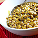green lentil soup with coconut milk and warm spices