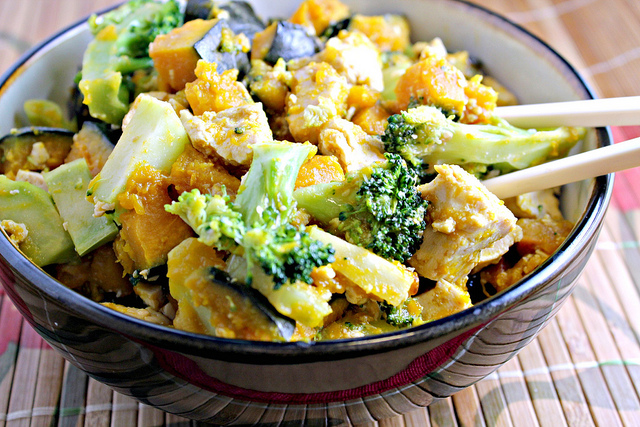 Maple-Miso Glazed Tofu with Broccoli and Winter Squash ...