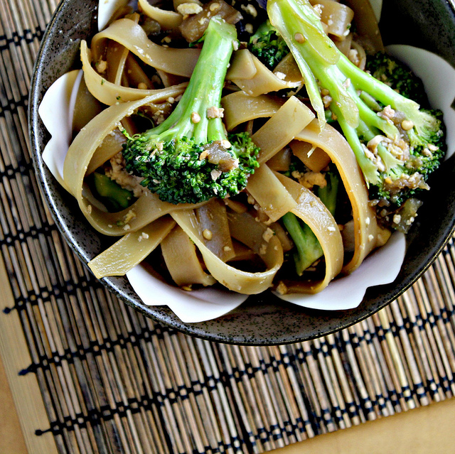 Tofu And Broccolini Pad See Ew Recipe — Dishmaps
