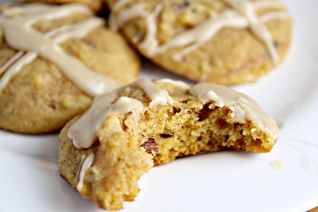 Pumpkin Hazelnut Cookies with a Brown Sugar Glaze | Joanne Eats Well ...