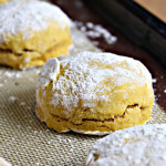 Pumpkin Biscuits with Cranberry Curd