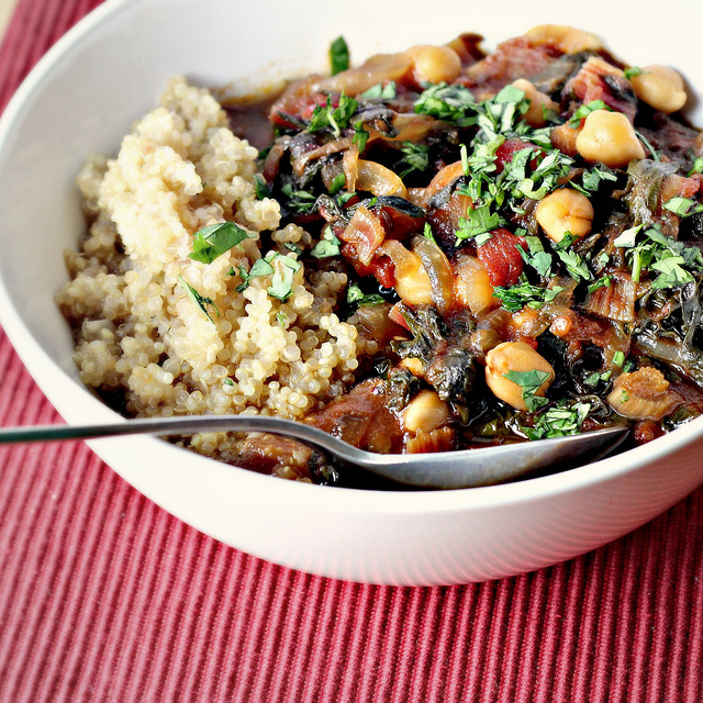 swiss chard, chickpea and tamarind stew