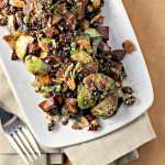 Brussels Sprouts and Potatoes with Almonds, Raisins, and Capers