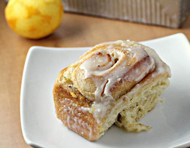 meyer lemon rosemary sticky buns