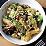 Baked Rigatoni with Brussels Sprouts, Figs and Blue Cheese {The Food Matters Project}