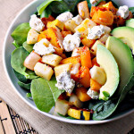 Chipotle Squash Salad with Jicama, Goat Cheese, and Avocado