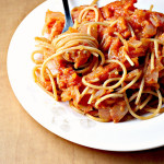 Spaghetti In Tomato-Apple Sauce…Eat.Live.Be.