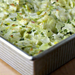 Cabbage and Leek Gratin with Mustard Cream