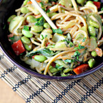 Peanut Noodle Salad with Edamame and Bok Choy