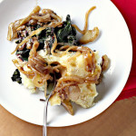Shepherd's Pie with Chard-Lentil Filling and Onion Gravy {Eat.Live.Be.}