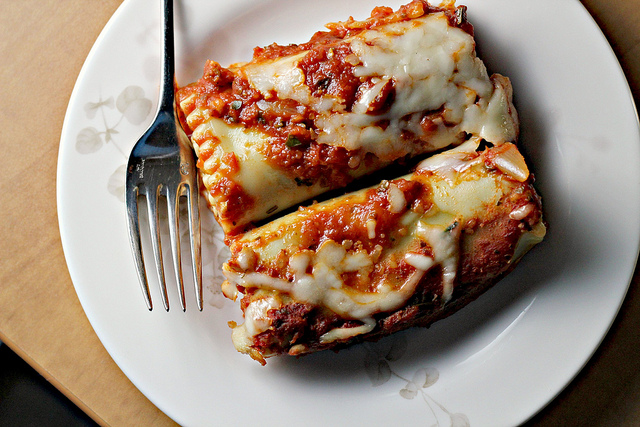 sweet potato and spinach pesto lasagna rols