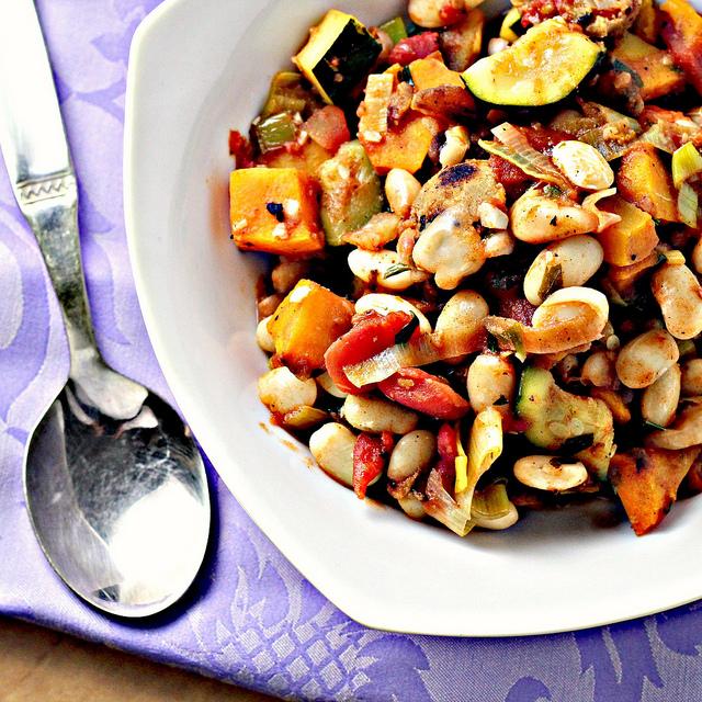 gourmet vegetarian cassoulet recipe - 640×640