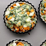 Butternut, Carrot and Goat Cheese Tartlets