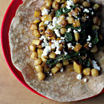 Chickpea, Swiss Chard and Sweet Potato Burritos {the food matters project}