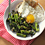 Pan-Fried Asparagus with Ramps, Lemon and Fried Eggs {eat.live.be.}