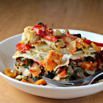 Stacked Roasted Vegetable Enchiladas {eat.live.be.}