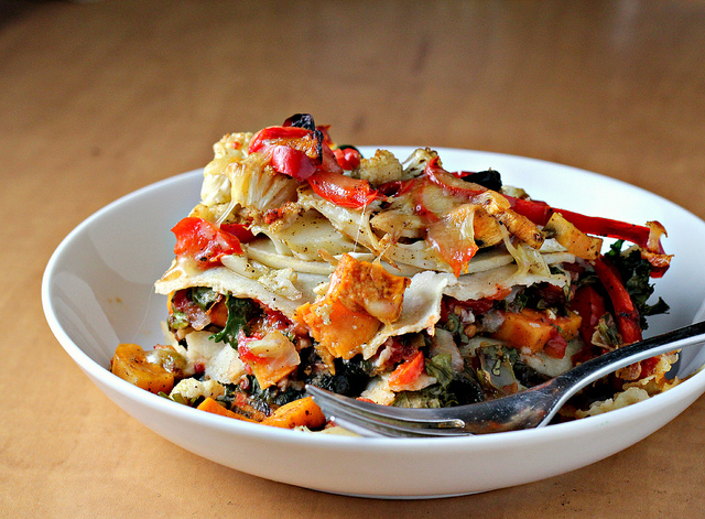Stacked Roasted Vegetable Enchiladas {eat.live.be ...