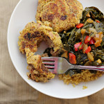 Black-Eyed Pea Cakes with Collard Greens {eat.live.be}