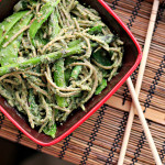 Coriander and Nori Pesto Soba with Wok Seared Greens {eat.live.be.}