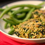 Spinach, Fava Bean and Quinoa Cakes