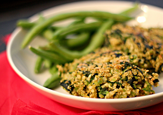 Spinach, Fava Bean and Quinoa Cakes | Joanne Eats Well With Others