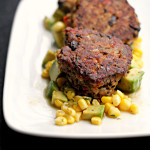 Black Bean Patties with Corn Relish {eat.live.be}