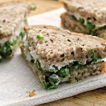 Gingered Pea Tea Sandwiches with Ricotta {the food matters project}