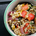 Barley Salad with Roasted Summer Vegetables