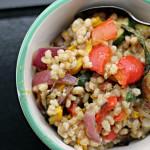 Barley Salad with Roasted Summer Vegetables
