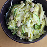 Cranberry Beans with Artichokes, Zucchini, and Pasta