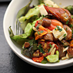 Heirloom Tomato Salad with Capers and Mozzarella