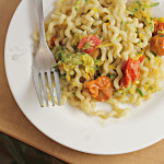 Summer Fusilli with Zucchini and Heirloom Tomatoes