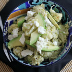 Broccoli and Cauliflower Quinoa Salad with Avocado and Goat Cheese