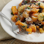 Pumpkin Gnocchi with Winter Squash and Seared Radicchio {12 Weeks of Winter Squash}