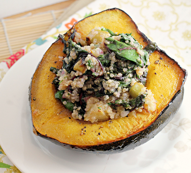 Acorn Squash Boats with Quinoa {12 Weeks of Winter Squash} | Joanne ...