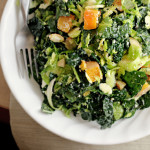 Kale and Brussels Sprout Salad with Butternut Squash…for World Diabetes Day!