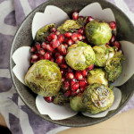 Roasted Brussels Sprouts with Pomegranates {GIVEAWAY}