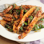 Roasted Carrot and Red Quinoa Salad…and Our Second Annual Food Bloggers Thanksgiving