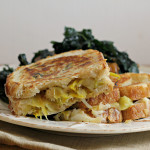 Apple, Leek and Gruyere Grilled Cheese