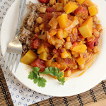 Chickpeas, Pumpkin and Cranberries with Bulgur