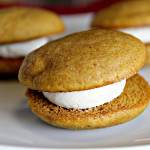 Pumpkin Whoopie Pies with Maple-Marshmallow Cream Filling…for a Virtual Baby Shower!!