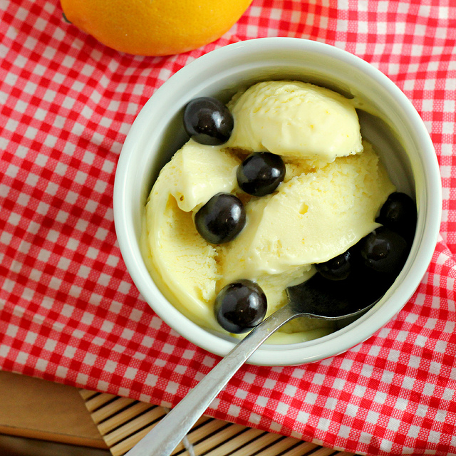 meyer lemon ice cream