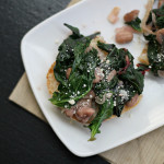 Pain de Campagne and Braised Mixed Greens and Garlicky Beans on Toast {eat.live.be}